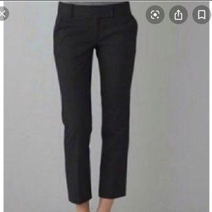 J Crew Black City Fit Cropped Trouser Size 4